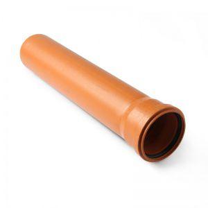 Труба канализационная наружная d - 110х3.4, L - 1000 мм ПОЛИТЕК купить в Белгороде