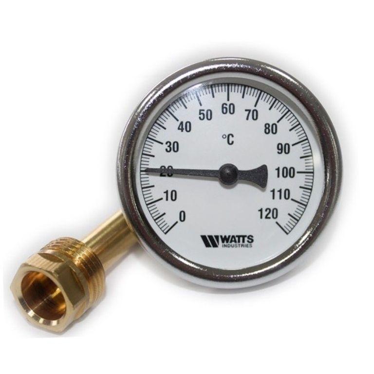 Термометр биметаллический WATTS с гильзой купить в Белгороде
