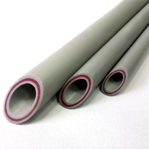 Труба полипропиленовая стекловолокно PPR 63-10.5 PN 25 серая купить в Белгороде