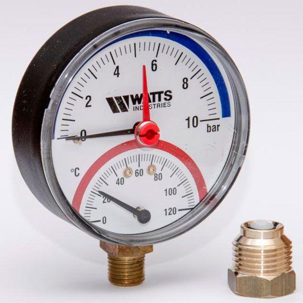 Термоманометр радиальный WATTS 1/2