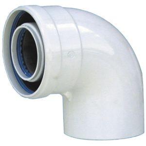 Коаксиальное колено 90º d - 60 / 100 мм купить в Белгороде