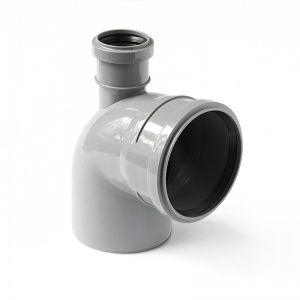 Отвод канализационный с фронтальным выходом ПОЛИТЕК 110х50 купить в Белгороде