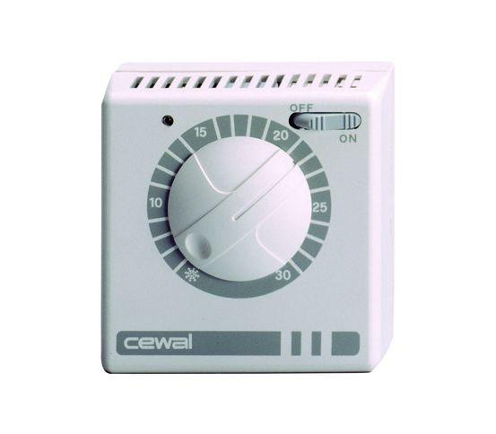 Комнатный термостат CEWAL RQ20 с индикатором купить в Белгороде